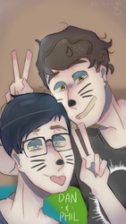 Dan And Phil for my phone by jessijellycake