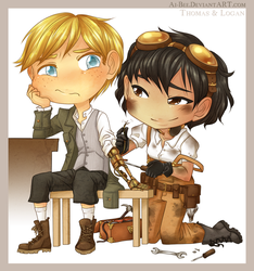 Commission - Thomas and Logan by Beedalee-Art