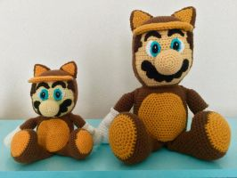 Tanooki Mario amigurumi (small) by JBcrochetwizard