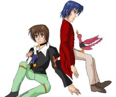 Kira and Athrun - DUCKS by yzak