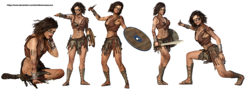 Free Stock PNG:  Female Warrior by ArtReferenceSource