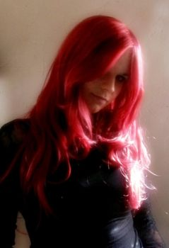 my red wig by Woelfchen1980