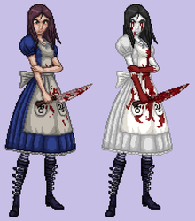 Alice Madness Returns - Alice Liddell [Pixel Art] by japoloypaletin