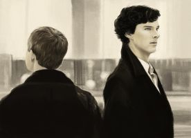 Sherlock and John companion piece (Sherlock) by thewordlesssignature