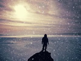 Standing at the end of the world. by 8moments