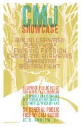 Gig Poster: CMJ Showcase Feat. Crowd the Airwaves by Mew-Sumomo
