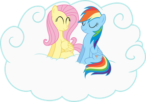 Fluttershy and Rainbow by UlyssesGrant