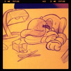 Long Night At The Office by Miss-Interocitor