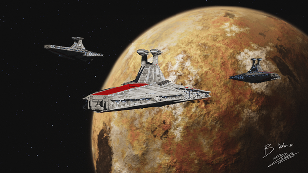 Star Wars - Venator Fleet by AxzlRose