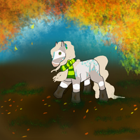 Chibi  Request || Walking in the Leaves by Adarhi