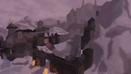 Mountain Fortress by Kxmode