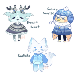 Winter Themed Adopts | 1/3 OPEN | CHEAPER!! by Gato-Designs