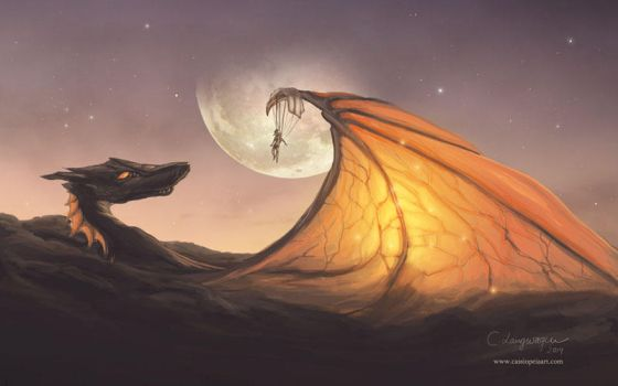 Cloud Dragon by CassiopeiaArt