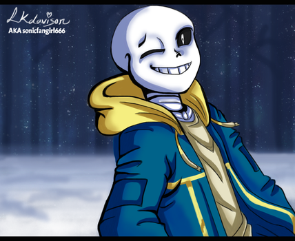 Commission #2(2018) - LogTale Sans by sonicfangirl666