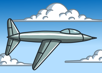 A airplane by Maleiva