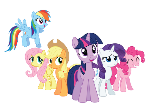 The Mane 6 by RainbowDerp98