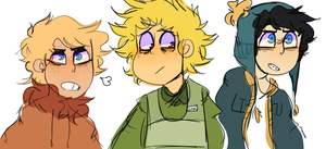 Tweek, Craig, Kenny by weesmeet