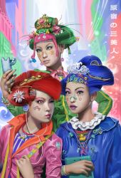 Harajuku Three Beauties by mattdonnici