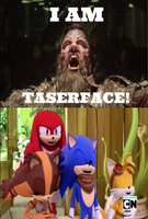 Sonic and Co laughing at Taserface by Negaboss2000