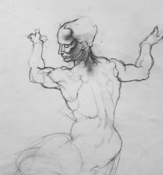 Michelangelo Libyan Sibyl Study by ProfessorPicasso