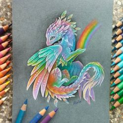 Rainbow dragon by AlviaAlcedo