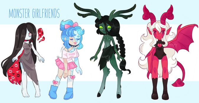 MONSTER GIRLFRIEND ADOPTS [CLOSED] by barafrog