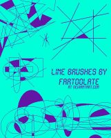 Abstract Line Brushes by fartoolate