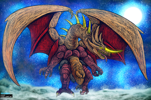 Bakan - Dragon God Beast Form for KaijuX by LucasCGabetArts