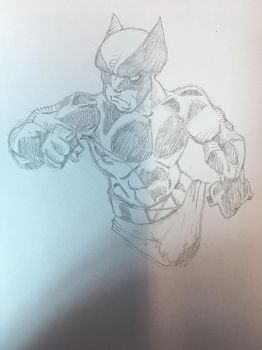 Work doodles New Wolverine  by TheMoore
