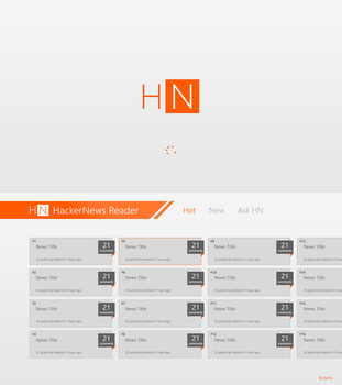HackerNews Reader for Windows 8 by MetroUX