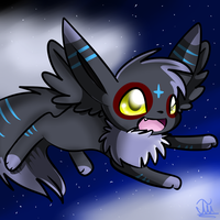 .:PC:.Flying through the night sky by NightBlueMoon