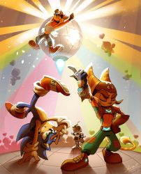 Sonic x Ratchet and Clank x Crash - Let`s DANCE by Shira-hedgie