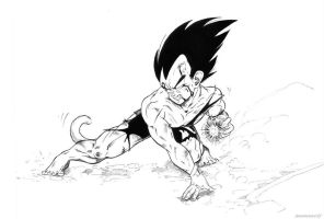 Vegeta Fight by Mana-the-eaglewolf