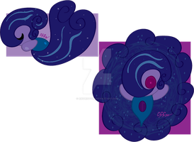 Sleeping Sparkle Mythical/Light type Tomamon by RikoriStorm