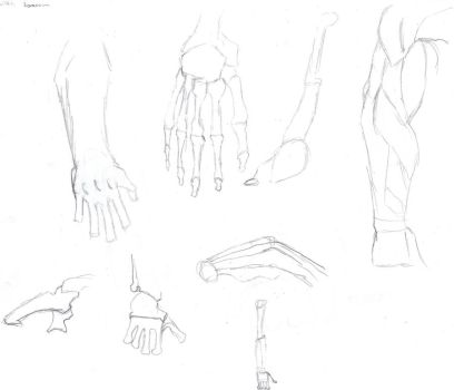 how to draw hands part 2 by MikedaPrez