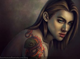 Portrait Practice by Heart-In-Mouth