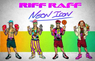 Neon Icon - Riff Raff Variations by fig13