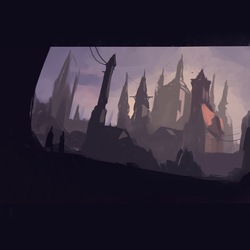 30 Minute Speed Painting - Watching over the City by GenelJumalon