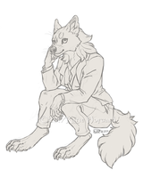 Business Casual Werewolf by KatieHofgard