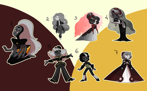 Coffinite and Goshenite Adopts (3/7 OPEN) by undercoverghost