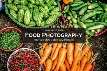 10 Free Food Photography Lightroom Presets by symufa