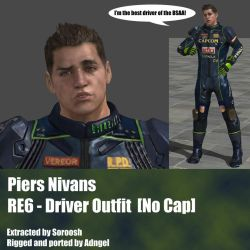 Piers Nivans RE6 Driver Outfit No Cap by Adngel