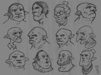 Character designs (heads) by GiovaBellofatto