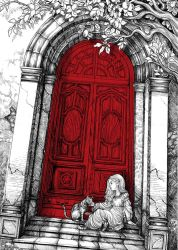 The House with the Red Door by WaterSorcerer