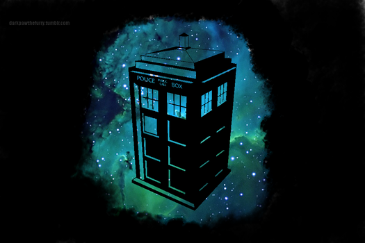 TARDIS Wallpaper - Black Edition. by MrGrandhighmonkey