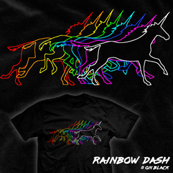 Rainbow Dash - tee by InfinityWave