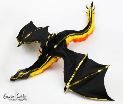 Calida the Royal Fire Dragon Art Doll FOR SALE . by Sovriin