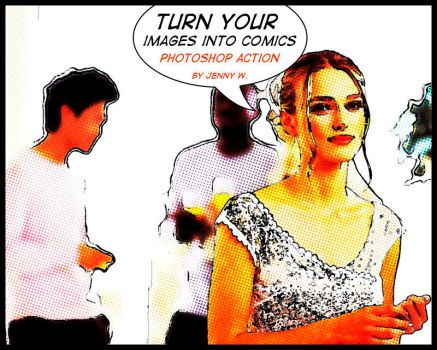 Comics Photoshop action by mutato-nomine