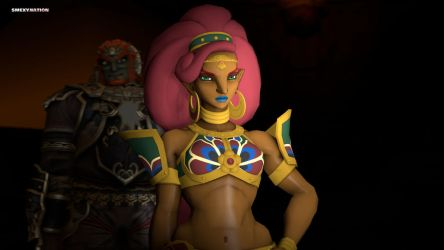 Urbosa and the Gerudo King by Smexynation-Lite