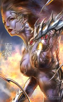 Witchblade Portrait by scarypet